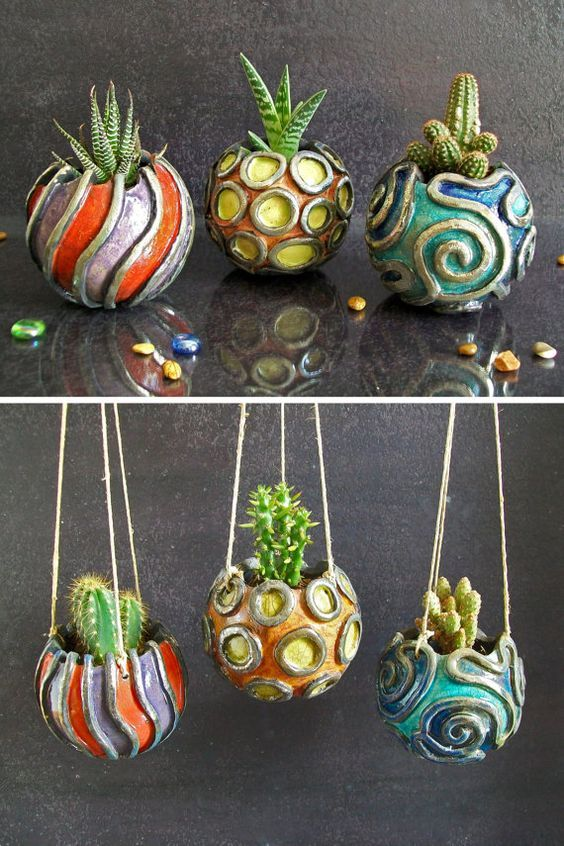 Hey, I found this really awesome Etsy listing at https://www.etsy.com/listing/232210595/raku-planter-pot-hanging-planter-pot