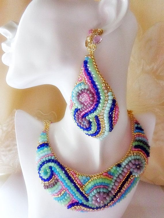 Bead embroidery summer spring trend delicate by mysweetcrochet