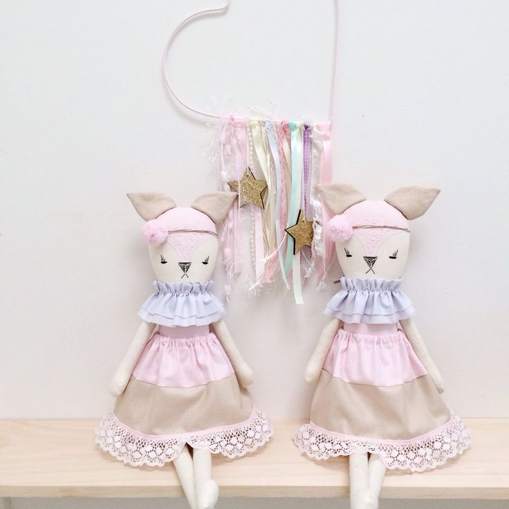 Thank you for stopping by Little Peach Handmade,This beautiful doll is lovingly handmade with quality fabrics and trims and is a perfect edition to any stylish nursery or kids room! Aprox 46cm in length.These items are intended for room decor or very gentle play only.