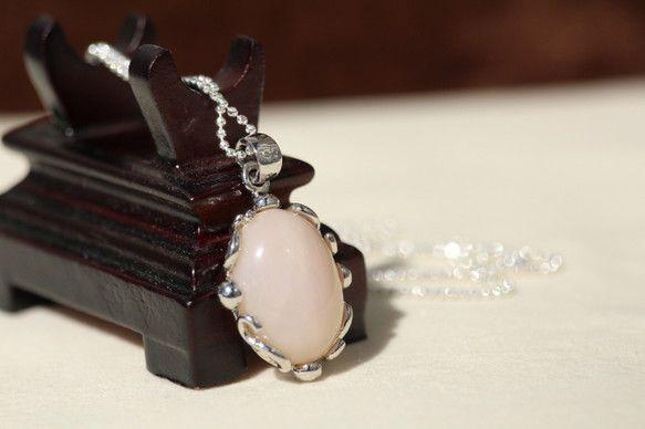 ピンクオパールのペンダントトップです。チェーンはsilver925のボールチェーンに着けて撮影しています。ピンクオパールの宝石言葉は、真実・友情・希望はです。...|ハンドメイド、手作り、手仕事品の通販・販売・購入ならCreema。