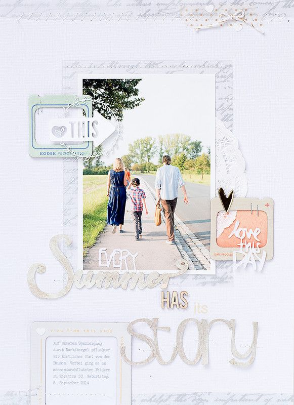 #papercraft #scrapbook #layout. Every summer has its story by mojosanti at @studio_calico