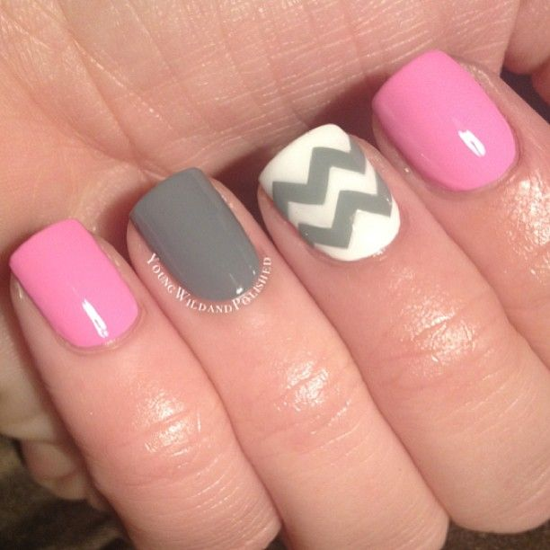 .@youngwildandpolished | A little chevron mani using decals from #makeitstick. Check out @aprilshowers... | Webstagram - the best Instagram viewer