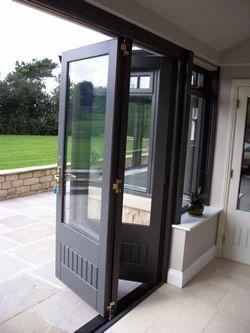 timber bi folding doors