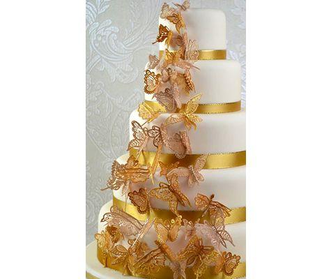Beautiful Butterflies Large 3D Cake Lace Mat By Claire Bowman