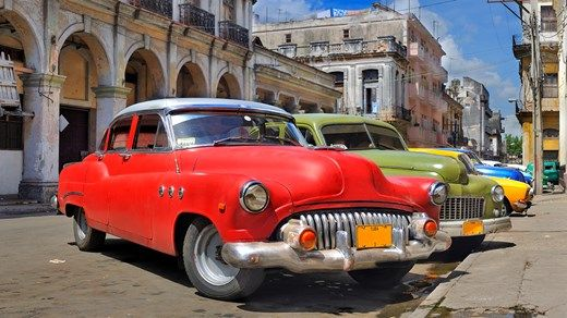 Classic veteran cars in Cuba #colorful #caribbean #cars #travel #kilroy