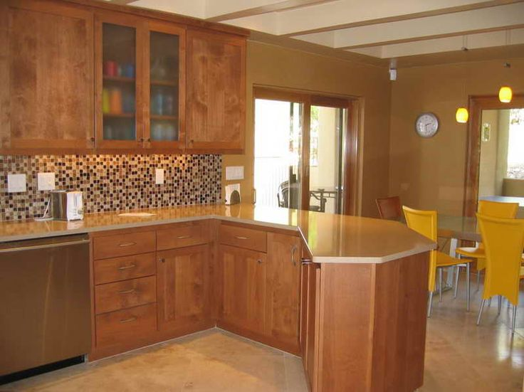 yellow kitchen walls with oak cabinets, Kitchen Paint Colors With Oak Cabinets I like the back
