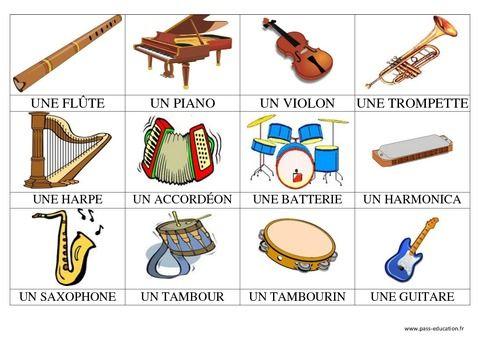 Les instruments de musique vocabulaire buscar con google for Instruments de musique dax