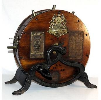 Antique knife cleaner & sharpener..Doesn't this look Steampunk?