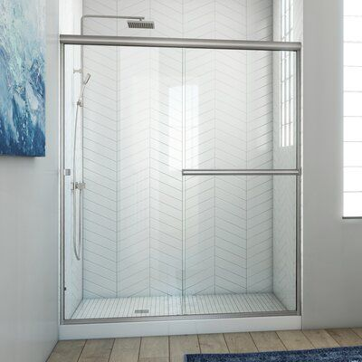 Arizona Shower Door Lese 60 X 70 38 Bypass Semi Frameless Shower