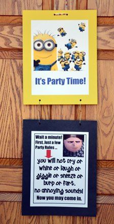 Front-Door-Minions - lots of free Despicable Me party printables