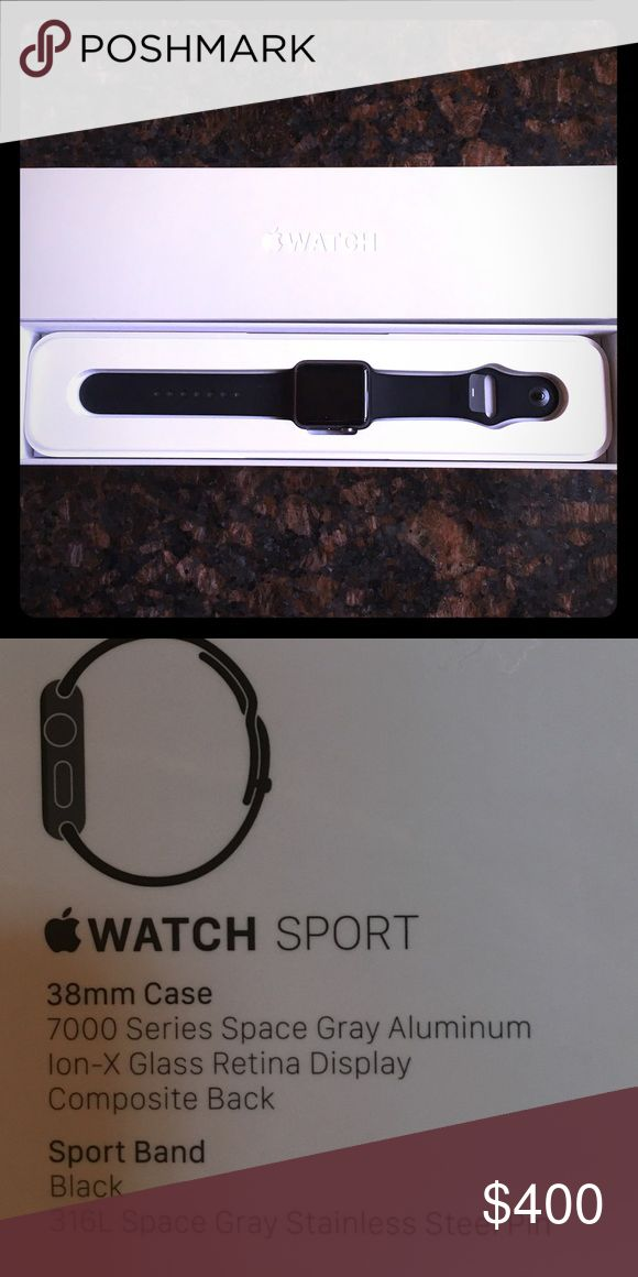 Apple Watch Sport black Never been used or taken out of original box Apple Accessories Watches