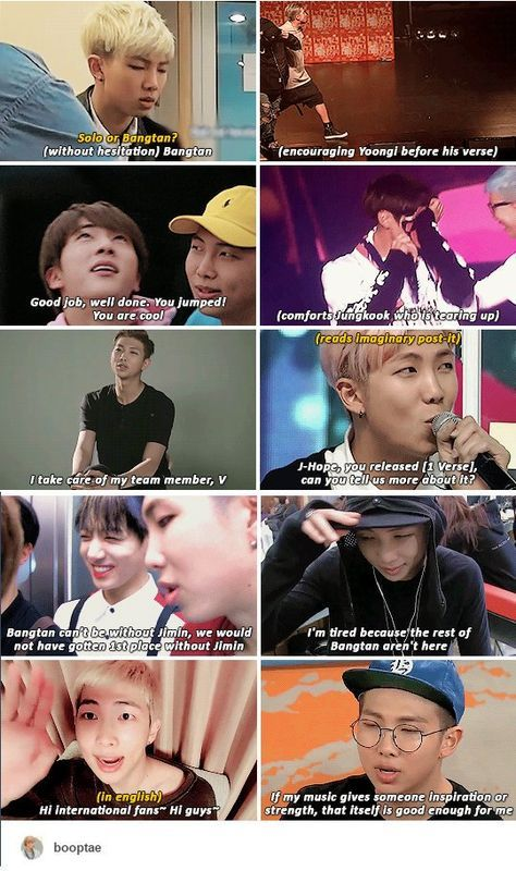 """Best leader ever"" is an understatement when it comes to Joonie. Bangtan would never be without his guidance and support and so much more."