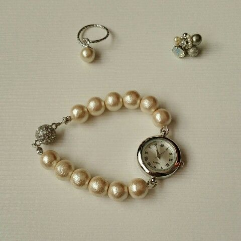 cotton pearl...ring☆pierce☆watch