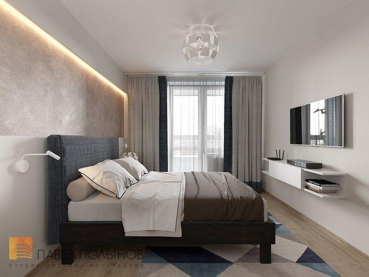 Фото: Интерьер спальни - Интерьер квартиры в современном стиле, ЖК «Солнечный»