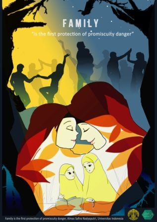Family protection of promescuity danger, such us free sex drug abuse poster, for generating qualified muslim. For JIMU 2016