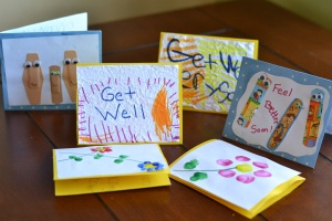 A family takes the time each Monday to do something nice for someone else, to serve someone else, calling it Monday Missions.  This Monday Mission is about supporting someone through a series of get well cards--not just one!