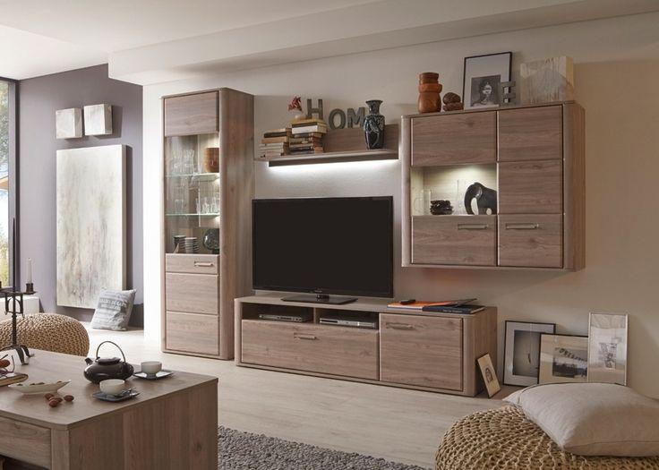 Wohnwand Ravenna Wohnzimmerschrank Anbauwand Eiche Nelson 20680 Buy Now At