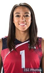 Alisha Glass women's indoor volleyball setter for team USA in the 2016 Rio Olympics 2016's best setter