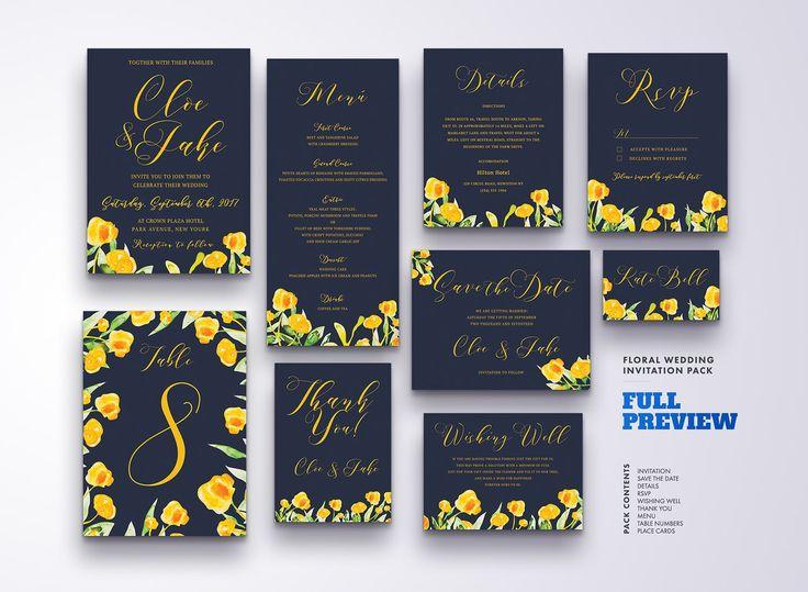 Большой набор приглашений на свадьбу + письмо благодарности + рассадка гостей