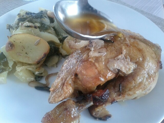 Rosemary  chicken well done