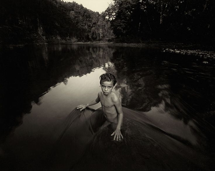 'The Last Time Emmett Modeled Nude', 1987.  By my favourite living art photographer, Sally Mann.  Included in her exhibition and book, 'Immediate Family'.