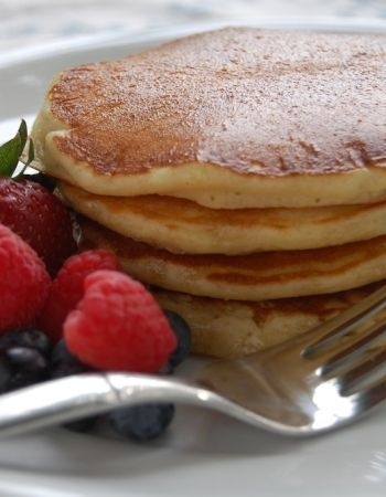 Einkorn Pancakes.  If you are just starting out with einkorn flour, try these pancakes. This is an easy way to introduce yourself to the nice flavor of einkorn wheat. The pancakes are flavorful, golden in color and have more protein that regular pancakes.
