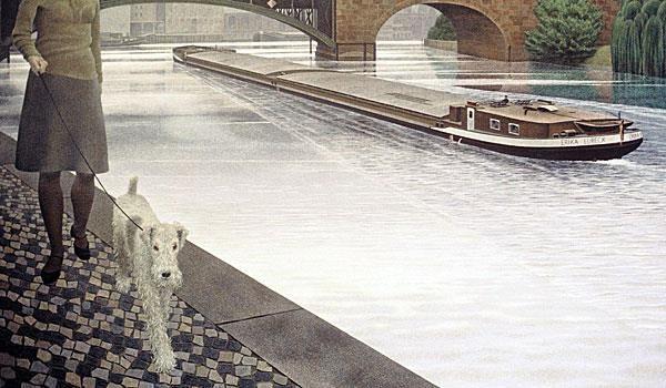 """Alex Colville , р. 1920 г.  """"River Spree"""" , 1971"""