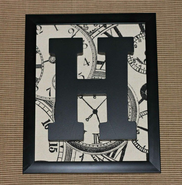 Framed Monogram Letter - 30 minutes or less project!