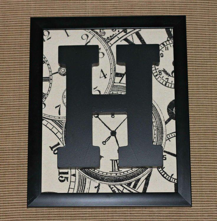Framed Monogram Letter - 30 minutes or less project!