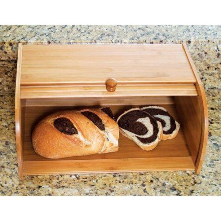 Wooden Bread Box Bakery Kitchen Storage Bamboo Bin Container.The Wooden Bread Box Bakery Kitchen Storage Bamboo Bin Container is a wonderful way to store your breads. This item is specially designed to hold bread, bagels and almost anything else you need to store..The Wooden Bread Box Bakery Kitchen Storage Bamboo Bin Container  combines quality, style, service and price into this bamboo bread box.