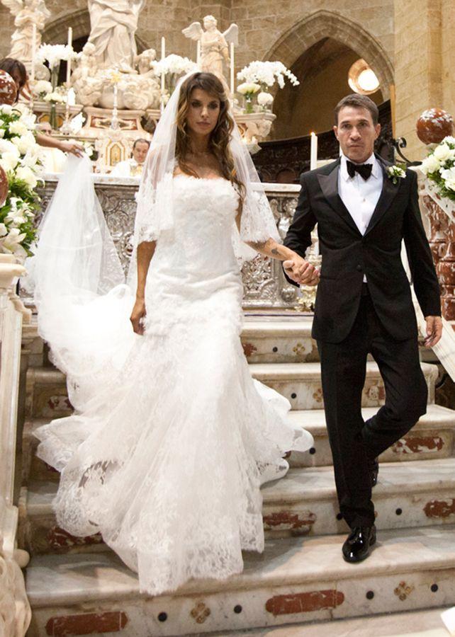 Elisabetta Canalis's Wedding Dress