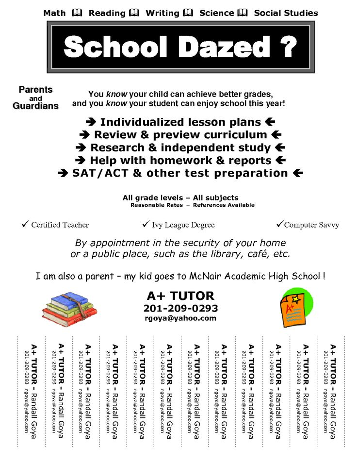 Tutoring Flyer Templates Free  CanelovssmithliveCo