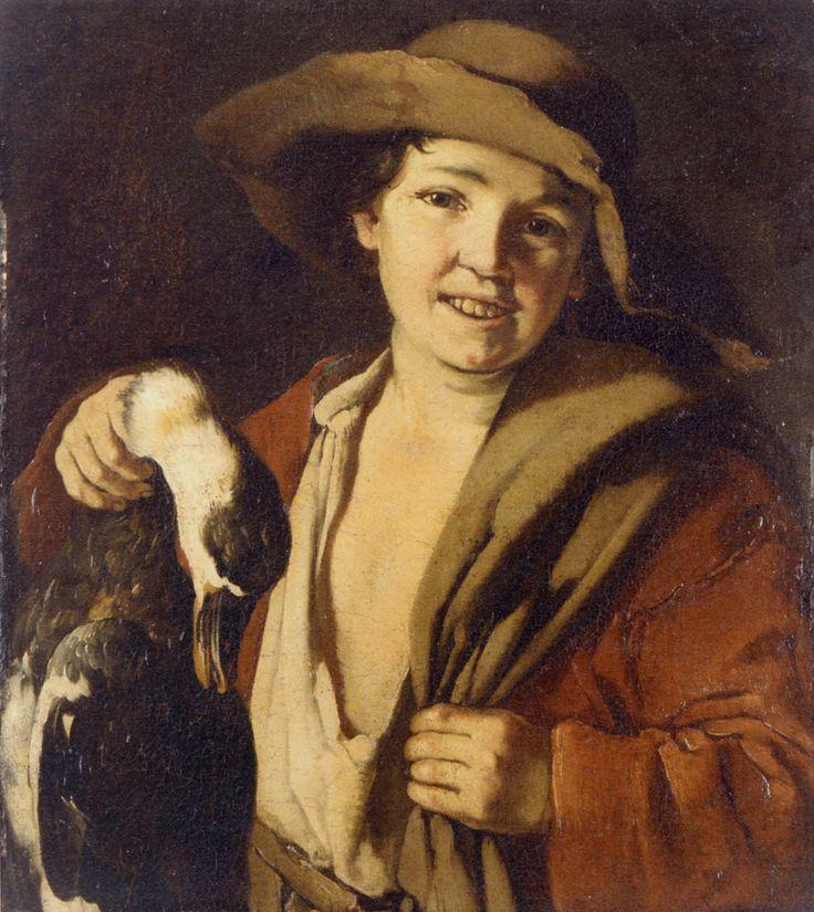 17 Giacomo Francesco CIPPER dit IL TODESCHINI (1664-1736), Boy Holding a Duck, st etienne