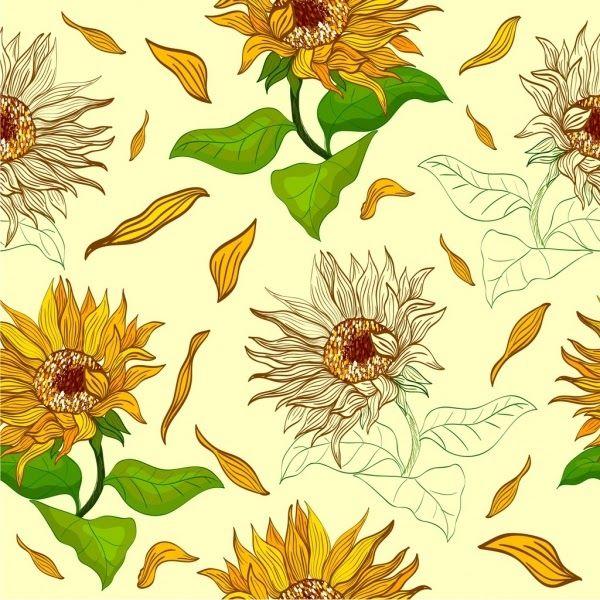 Terkeren 30 Background Bunga Matahari Sunflowers Background Repeating Multicolored Icons Sketch Download Makna Filosof Di 2020 Bunga Matahari Bunga Latar Belakang