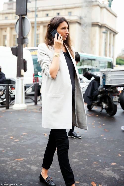 Géraldine Saglio ... always so chic, even with a baby bun