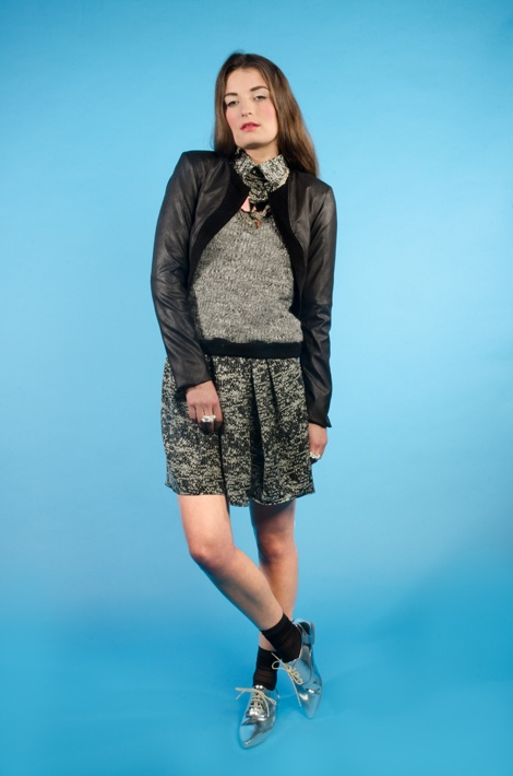 'Let them be Lux' Jacket, 'Tres Tokyo' Jumper, 'Shoot the Air' Shirt & 'Charlotte's Revelation' Skirt  [Nikita Brown Photography]