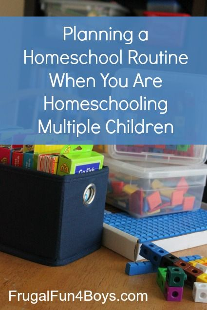 Planning a homeschool routine when you are homeschooling multiple children - love the idea of routine rather than schedule.