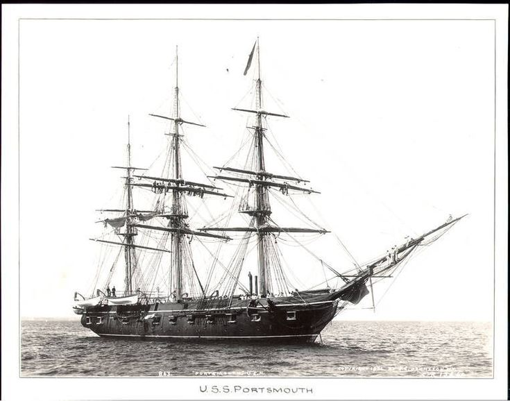 Early in 1845 sloop USS Portsmouth braved turbulent waters at tip of South America & headed north up west coast.Captain John B.Montgomery under orders to patrol off San Francisco Bay as part of US Pacific Fleet effort to prevent Britain from acquiring California.When war broke out Montgomery sailed into bay & sent marines to Yerba Buena.Little resistance since John C.Fremont slipped across bay & disabled Mexican cannon.American flag 1st flew over town July 9,1846.Today Portsmouth Square.