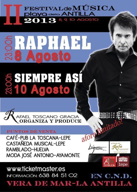 Cuenta atrás para el #Concierto de #Raphael en #Lepe #LaAntilla #Huelva