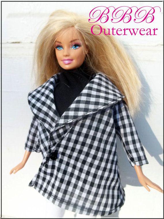 Barbie Clothes Outerwear Black & White by BarbieBoutiqueBasics, $12.50