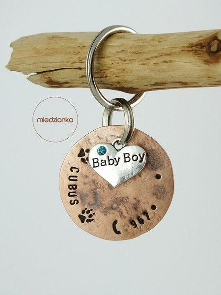 Ø32 mm Adresówka Baby Boy miedziana - Miedzianka - Dla miłośników zwierząt