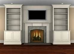 bookshelf next to fireplace - Bing Images