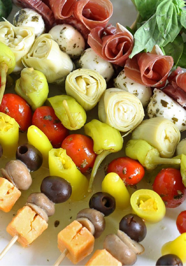 Looking for an easy party appetizer for a lazy end-of-summer day or a casual and relaxed barbecue? These Antipasto Skewers can be ready to wow with simple ingredients in only 10 minutes!