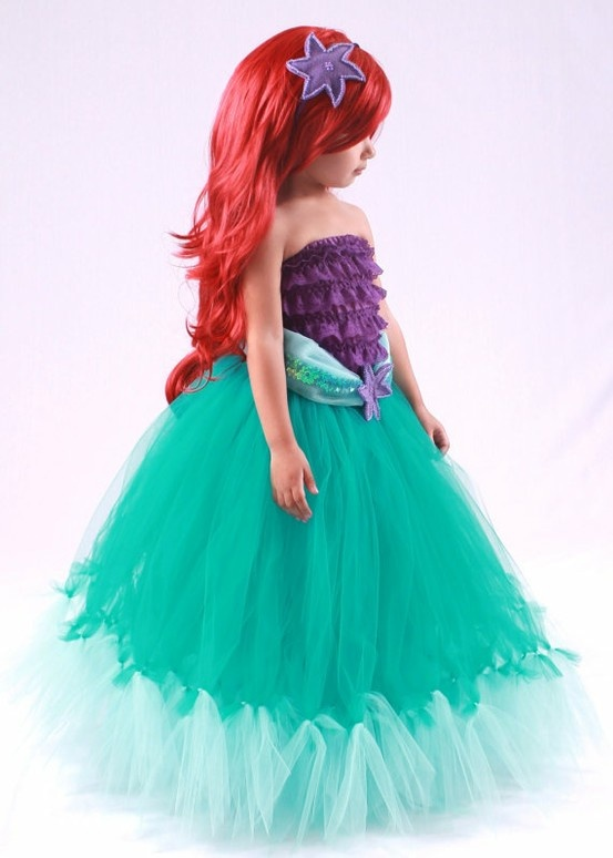 Princess Ariel - Mermaid Tutu Costume looks like i need to head to the fabric store asap... my lil princess needs this!!!!!
