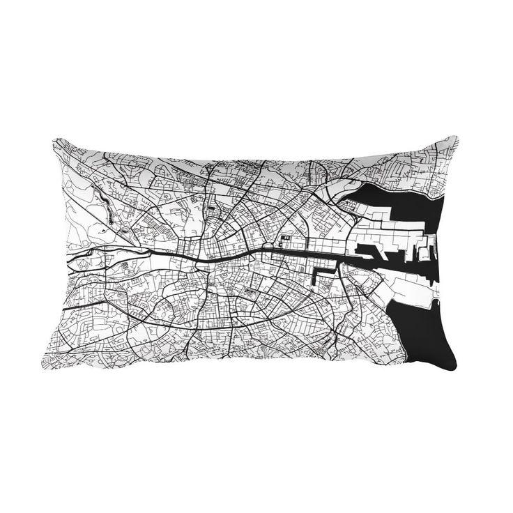 Dublin Pillow, Dublin Decor, Dublin Throw Pillow From $39.99 - ModernMapArt