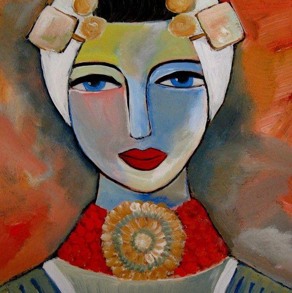 Woman's Day Zeeuws Meisje by Nelly van Nieuwenhuijzen on ARTwanted