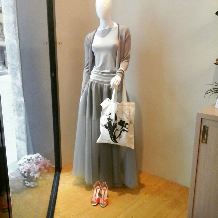 Window with fantastic tulle skirt