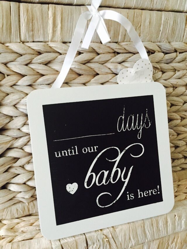 New Product large Owl Design Days Till our Baby Countdown Plaque