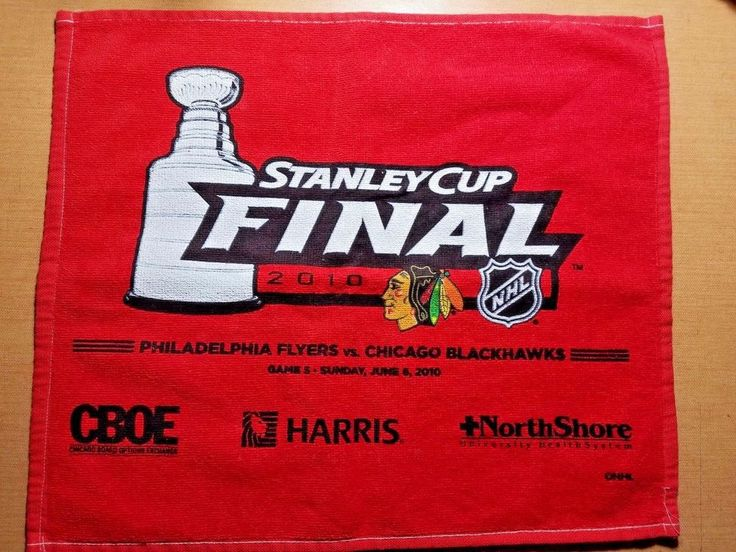 Chicago Blackhawks 2010 Stanley Cup FINAL rally towel 18X14  #ChicagoBlackhawks