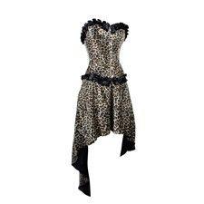 Korset met luipaardprint en bijpassende rok